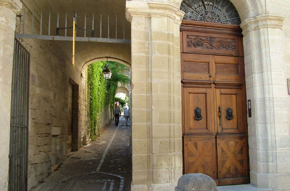 L'entrée du jardin médiéval